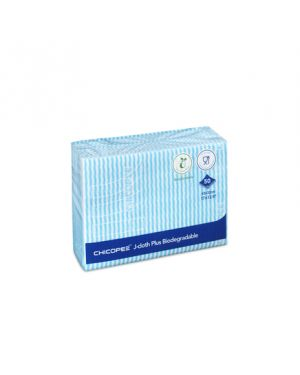 J Cloth Plus Biodegradable Wipe Blue 43x31cm (Pack of 50)