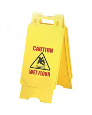 CleanWorks Caution Sign Plastic A Frame 55CM