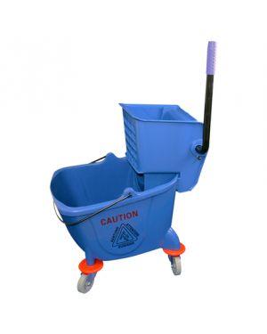 CleanWorks Mop Bucket & Wringer Blue 25L