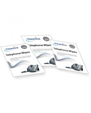 Cleanline Telephone Wipes (Pack of 100)