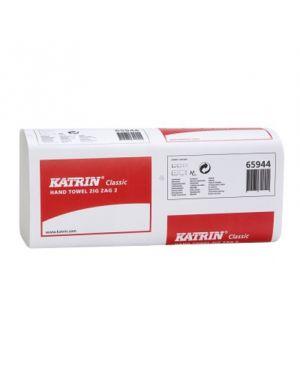 Katrin Zig Zag Hand Towel Green 1Ply (Case of 5,000)