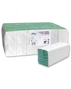 Pristine C Fold Hand Towel Green 1Ply (Case of 4,224)