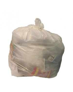 CleanWorks Square Bin Liner White 600x580MM (5 x Pack of 100)