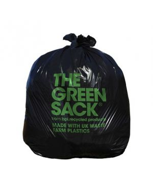 "Bin Bag Black Sack 18x29x38"" 15KG (Case of 200)"